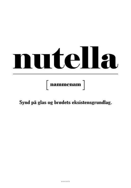 Plakat - Nutella definition