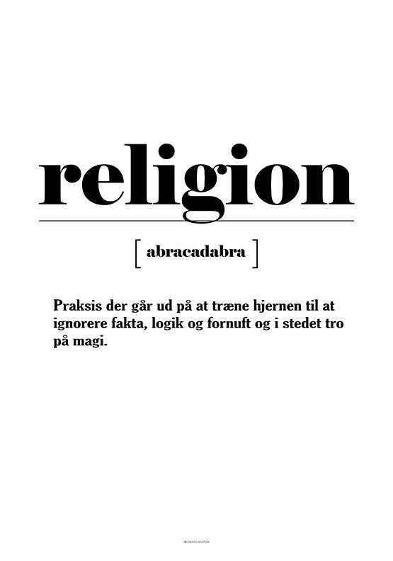 Sjov definition af religion